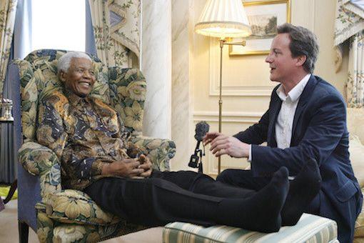 Cameron meets Nelson Mandela
