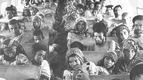 Yemenite Jews are shown en route from Aden to Israel during Operation Magic Carpet, circa 1950 [File photo]